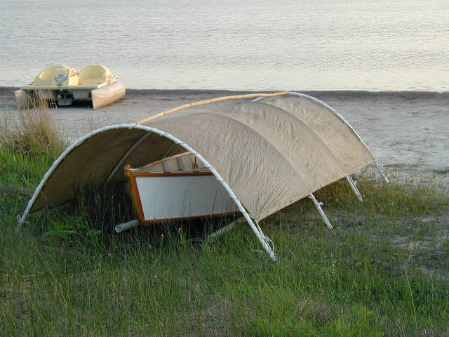 Pvc Pipe Shelter : Simple boat shelter
