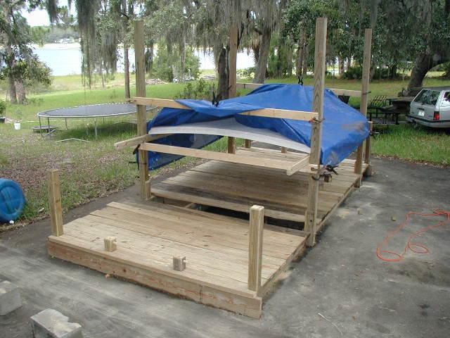 Shanty Dock 8 X16 Swim Platform On Barrels